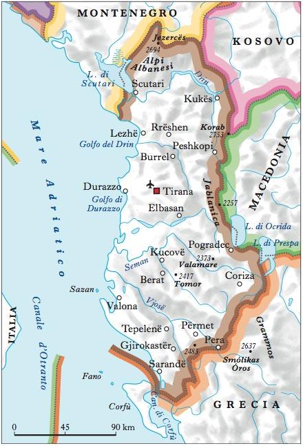 Albania Cartina Stradale.Albania Nell Enciclopedia Treccani