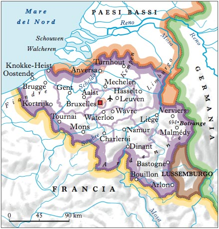 Cartina Del Belgio Da Stampare.Belgio Nell Enciclopedia Treccani