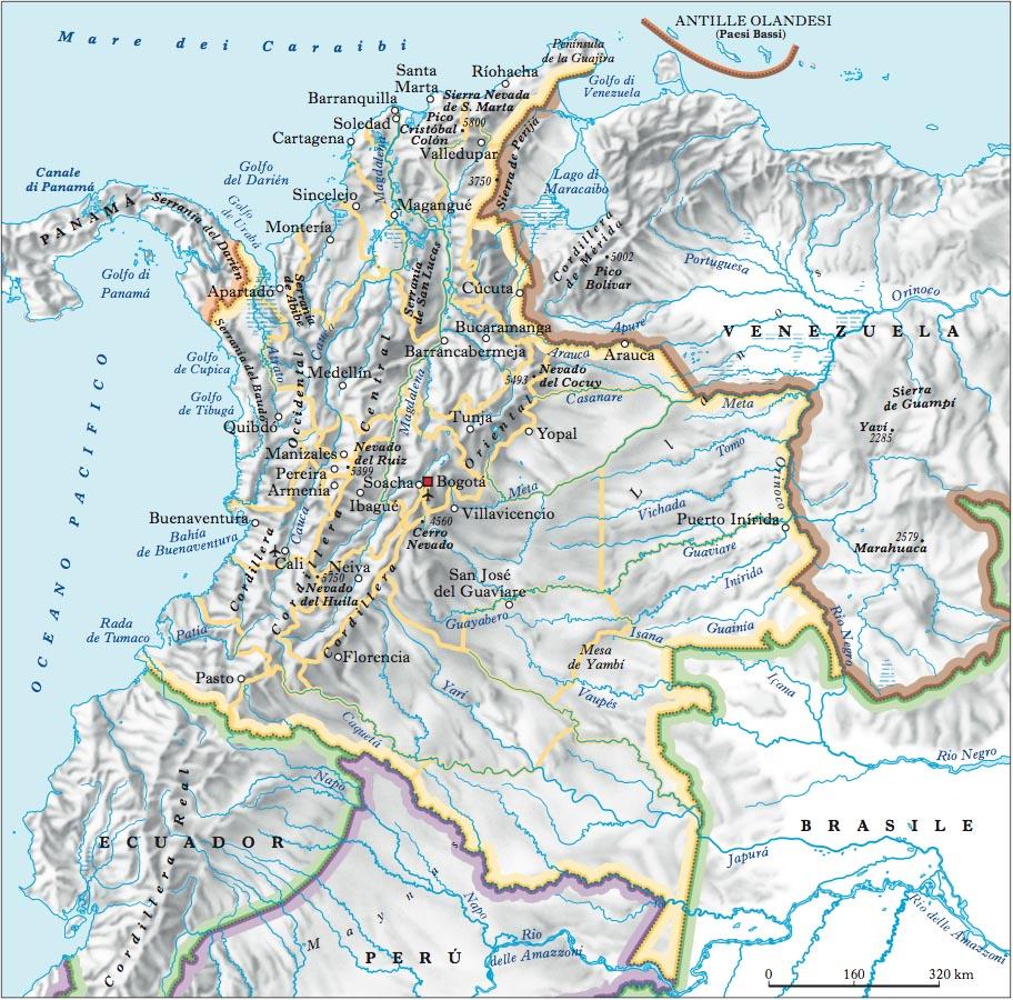 Cartina Fisica America Latina.Colombia Nell Enciclopedia Treccani