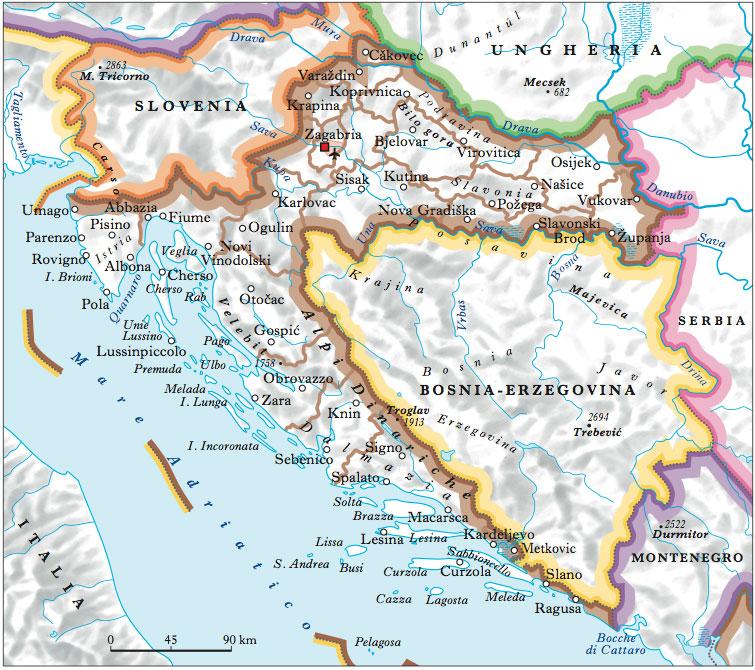 Cartina Muta Della Croazia.Cartina Croazia