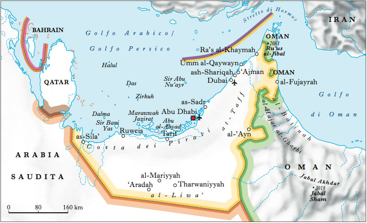 Dubai Sulla Cartina Geografica.Emirati Arabi Uniti Nell Enciclopedia Treccani