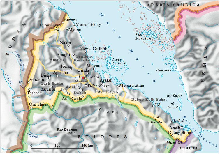 Cartina Eritrea.Eritrea Nell Enciclopedia Treccani