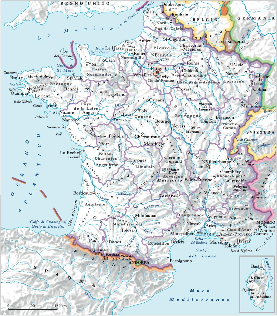 Cartina Fisica Francia Montagne.Francia Nell Enciclopedia Treccani