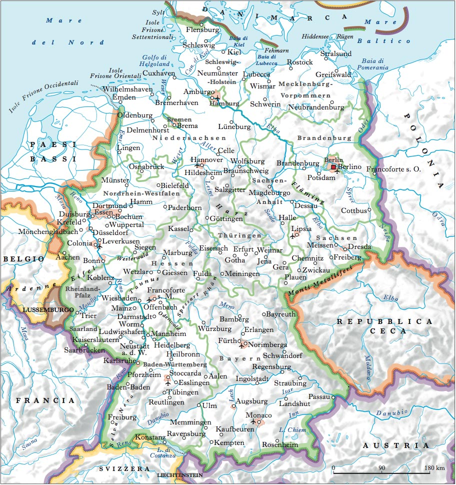 Germania Cartina Muta.Germania Nell Enciclopedia Treccani