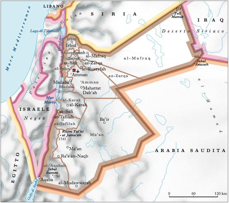 Cartina Fisica Dell Israele.Giordania Nell Enciclopedia Treccani