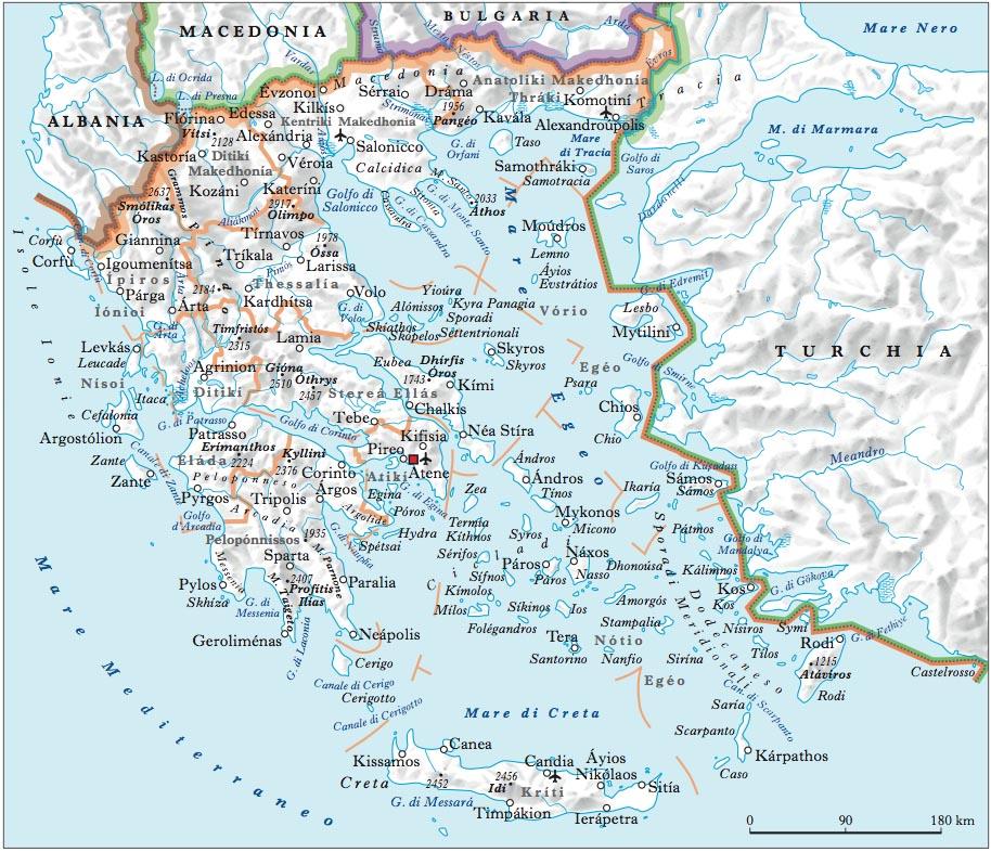 Cartina Geografica Isole Greche.Grecia Nell Enciclopedia Treccani