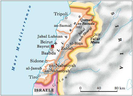 Cartina Fisica Del Libano.Libano Nell Enciclopedia Treccani