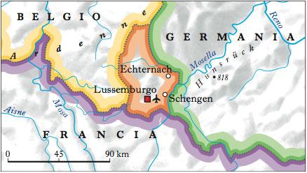 Cartina Fisica Germania Con Confini.Lussemburgo Nell Enciclopedia Treccani