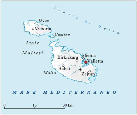 Isola Di Malta Cartina Geografica.Malta Nell Enciclopedia Treccani