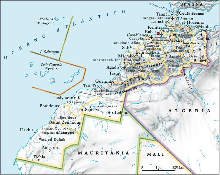 Cartina Politica Del Marocco.Marocco Nell Enciclopedia Treccani