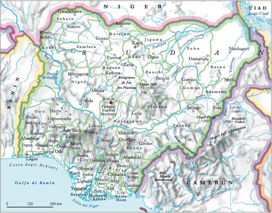 Nigeria Cartina Africa.Nigeria Nell Enciclopedia Treccani