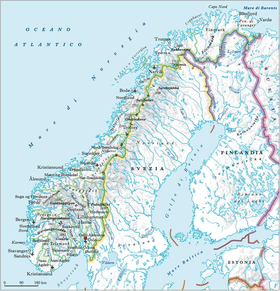Cartina Fisica Della Norvegia.Norvegia Nell Enciclopedia Treccani