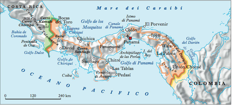 Cartina Fisica Dell America Centrale.Panama Nell Enciclopedia Treccani
