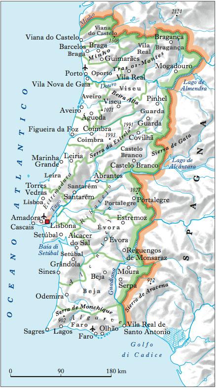 Cartina Geografica Algarve.Portogallo Nell Enciclopedia Treccani