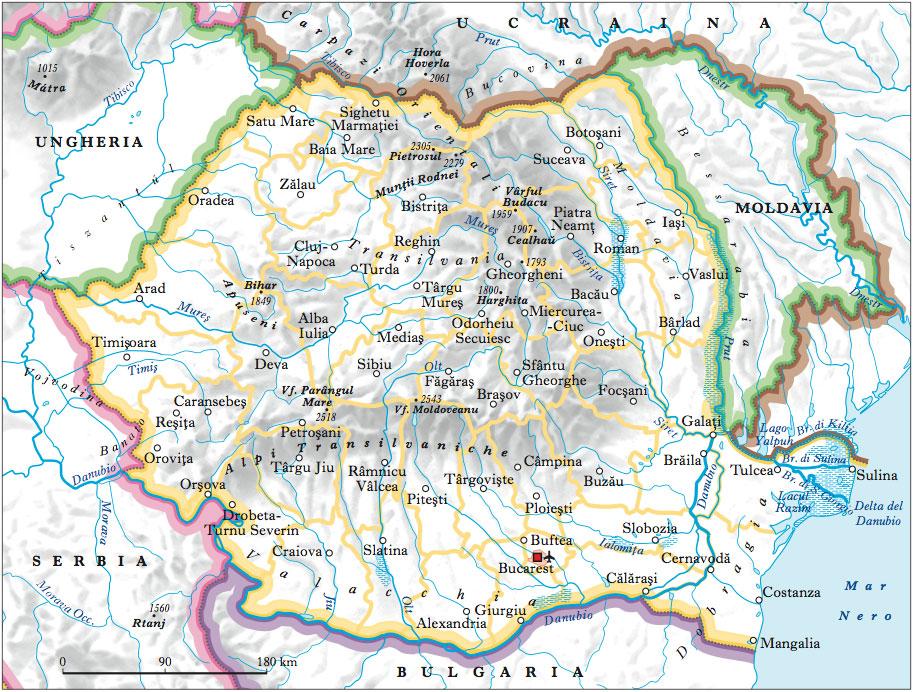 Cartina Geografica Politica Della Romania.Romania Nell Enciclopedia Treccani