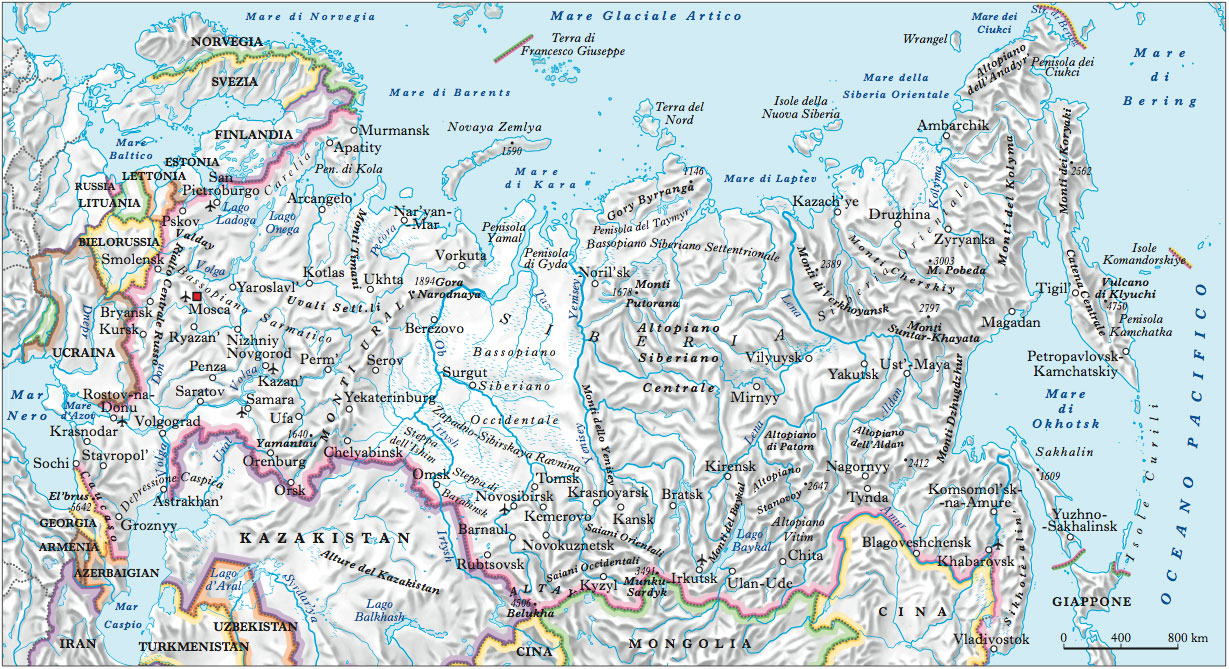 Cartina Fisica Russia Asiatica.Russia Nell Enciclopedia Treccani
