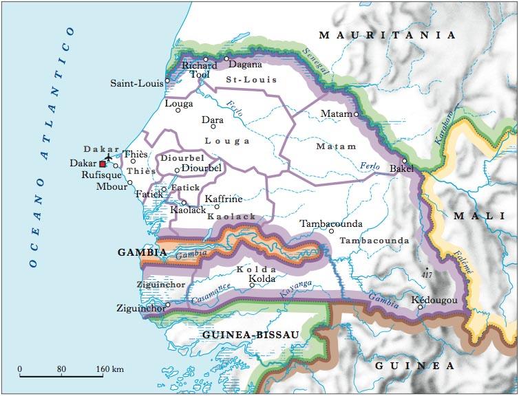 Africa Occidentale Cartina Geografica.Senegal Nell Enciclopedia Treccani