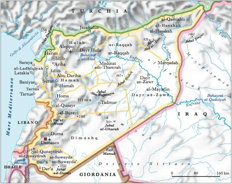 Cartina Mondo Siria.Siria Nell Enciclopedia Treccani