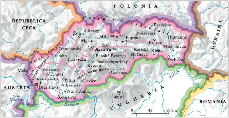 Cartina Muta Ucraina.Slovacchia Nell Enciclopedia Treccani