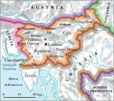 Portorose Slovenia Cartina Geografica.Slovenia Nell Enciclopedia Treccani