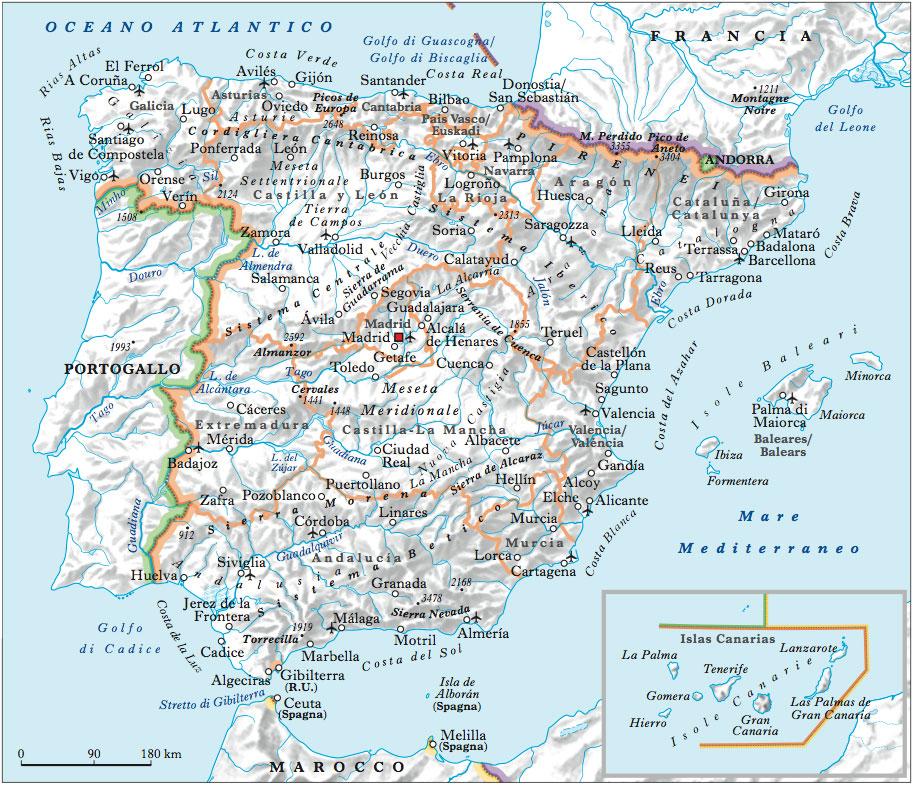 Cartina Fiumi Spagna.Spagna Nell Enciclopedia Treccani