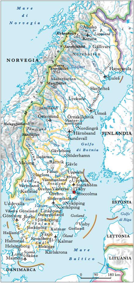 Cartina Norvegia Da Stampare.Svezia Nell Enciclopedia Treccani