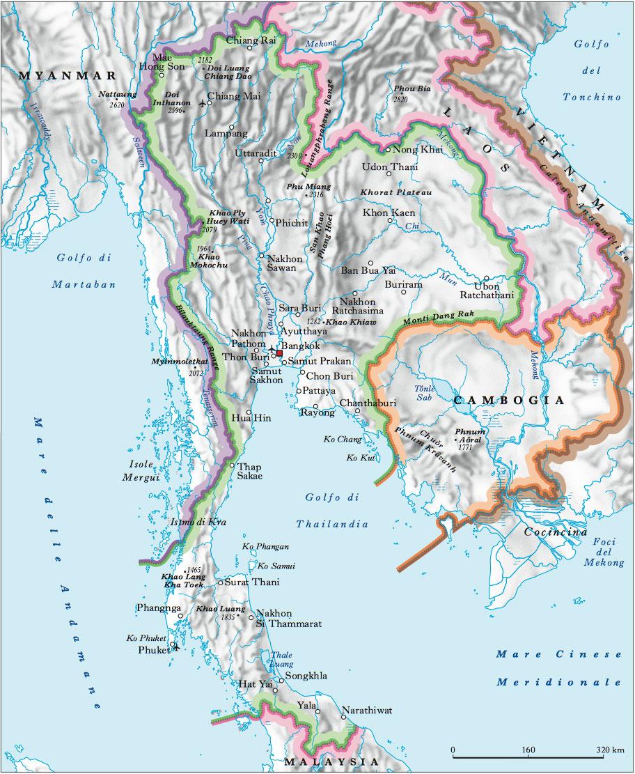 Tra Vietnam E Thailandia Cartina Geografica.Thailandia Nell Enciclopedia Treccani