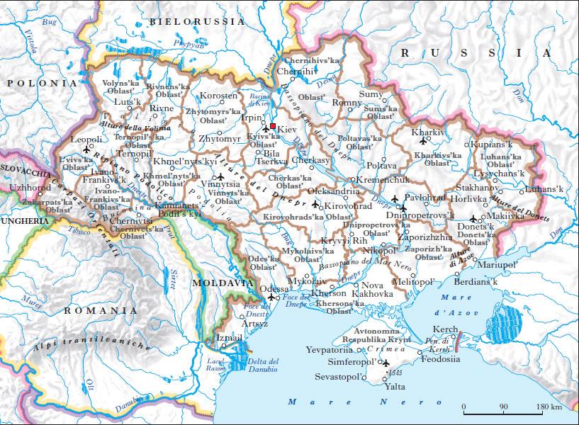 Cartina Geografica Russia Ucraina.Ucraina Nell Enciclopedia Treccani