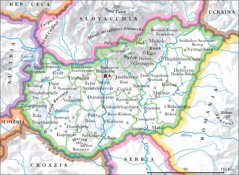 Cartina Geografica Fisica Della Romania.Ungheria Nell Enciclopedia Treccani