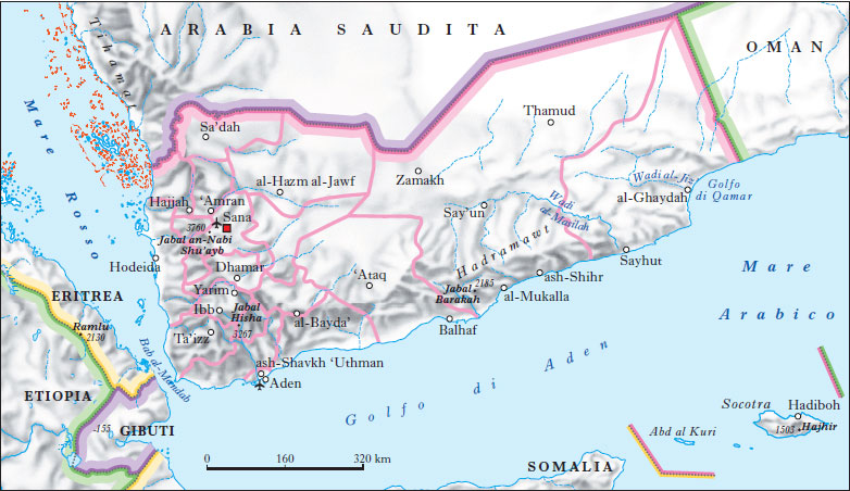 Cartina Yemen.Yemen Nell Enciclopedia Treccani