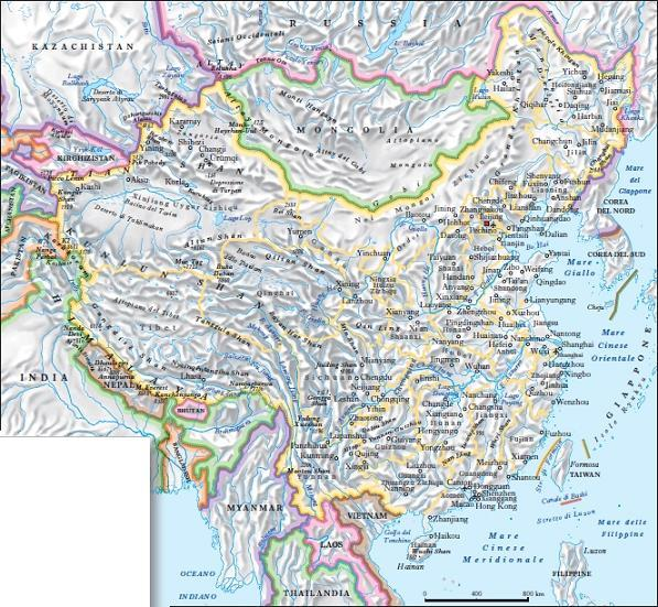 Cina Cartina Fisica Geografica.Cina Nell Enciclopedia Treccani
