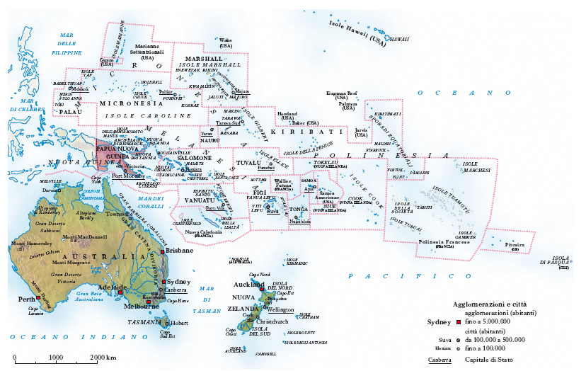 Oceania nell\'Enciclopedia Treccani