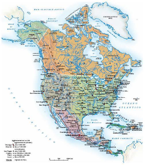 Cartina Politica Dell Asia Con Stati E Capitali.America Nell Enciclopedia Treccani