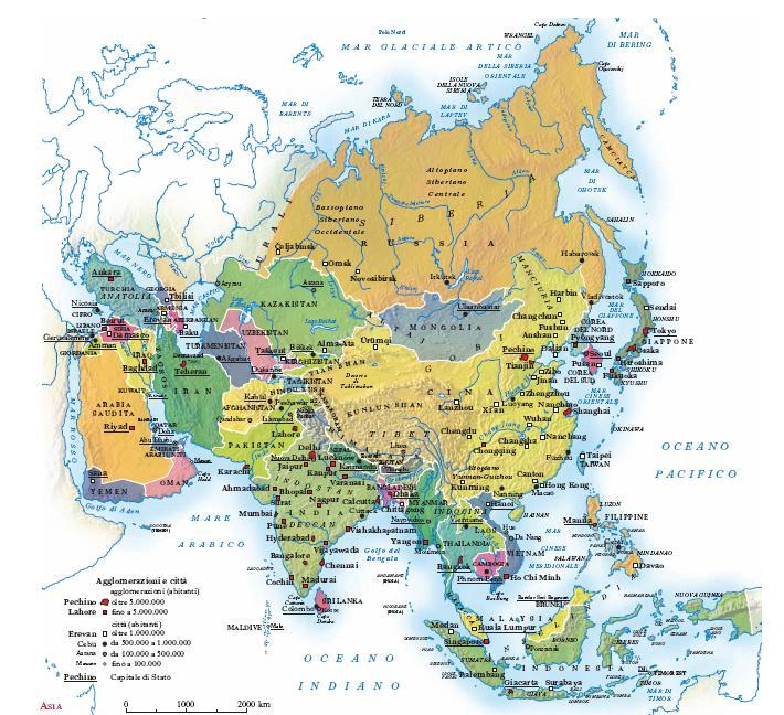 Cartina Politica Dell Asia Con Stati E Capitali.Asia Nell Enciclopedia Treccani