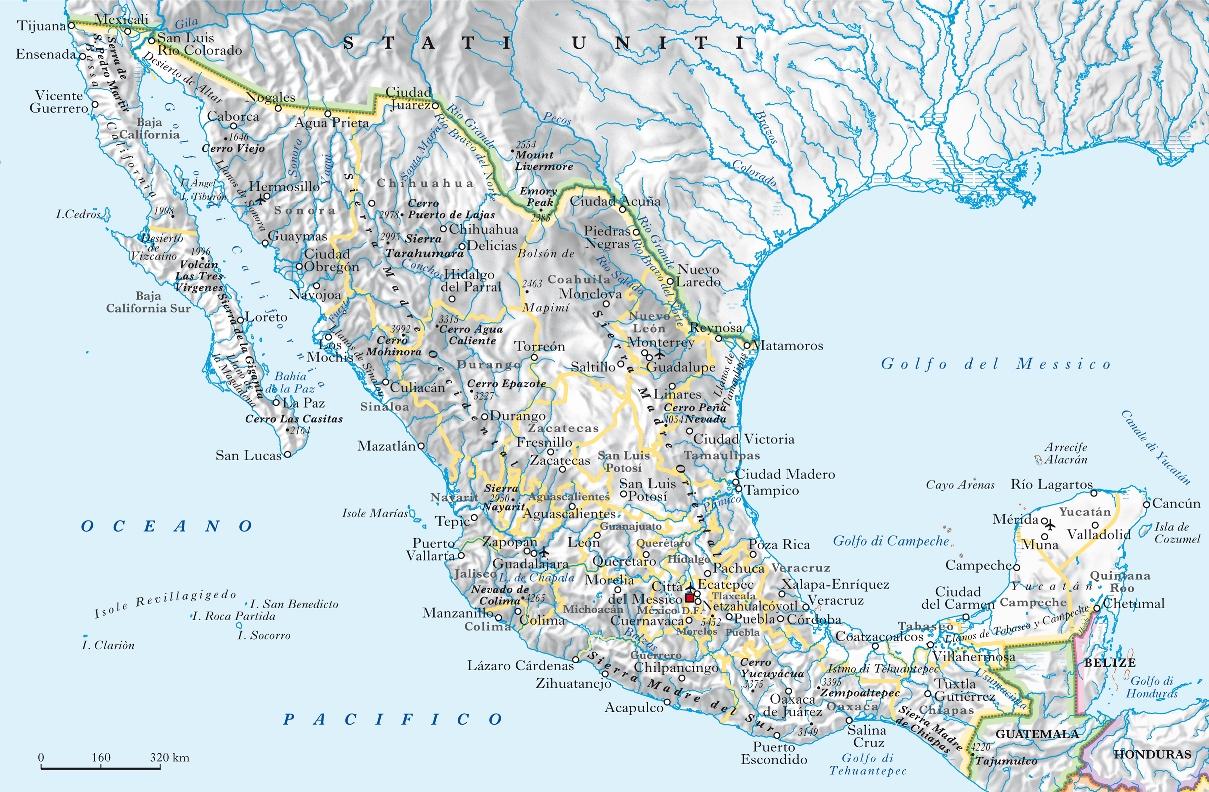 Cartina Del Messico Politica.Messico Nell Enciclopedia Treccani