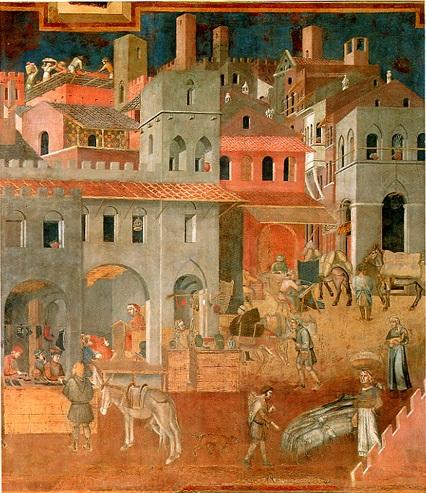 Il lavoro nell europa medievale la bottega artigiana for Foto di case di artigiani