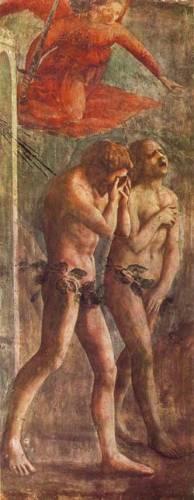 Masaccio, La cacciata dal paradiso terrestre, Cappella Brancacci in S.Spirito, Firenze