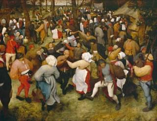 Pieter Breughel il Vecchio ,Danza nuziale, Kunsthistorischesmuseum, Vienna