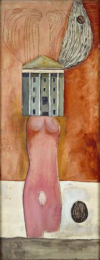 Louise Bourgeois, Femme-maison, 1947 - Immagine tratta dal sito http://www.undo.net/Pressrelease/undotv/foto/1278429842g.jpg