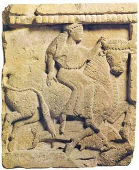 Metopa dal Tempio Y dell'Acropoli di Selinunte, 580-60 a.C