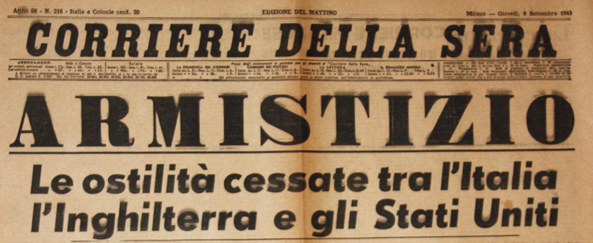 8 settembre, il giorno dell'armistizio