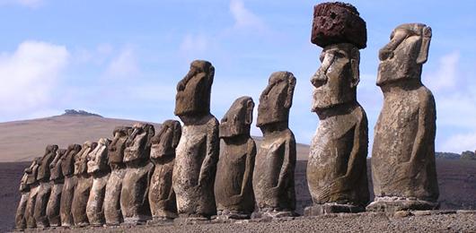 Le statue dell'Isola di Pasqua camminano