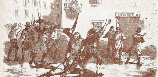 Milano 1814, linciaggio antitasse