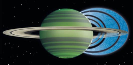 Piove dagli anelli di Saturno