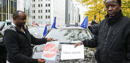 Uber bandita da Bruxelles