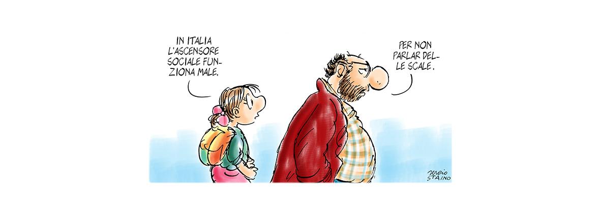 La scarsa mobilità intergenerazionale in Italia