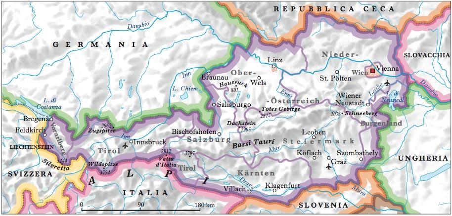 Austria nell 39 enciclopedia treccani - Mappa di ungheria ed europa ...