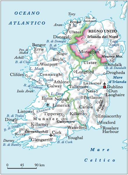 Cartina Geografica Fisica Dell Irlanda.Irlanda Nell Enciclopedia Treccani