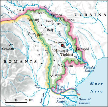 Cartina Geografica Fisica Della Romania.Moldavia Nell Enciclopedia Treccani