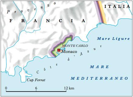 Cartina Geografica Costa Azzurra Francia.Monaco Principato Di Nell Enciclopedia Treccani